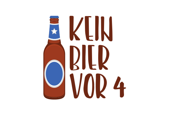 Download Free Kein Bier Vor 4 Svg Cut File By Creative Fabrica Crafts for Cricut Explore, Silhouette and other cutting machines.