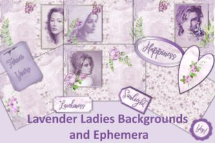 Lavender Ladies Backgrounds & Clipart Graphic By The Paper Princess