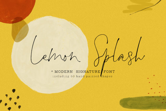 Print on Demand: Lemon Splash Script & Handwritten Font By Blue Robin Design Shop