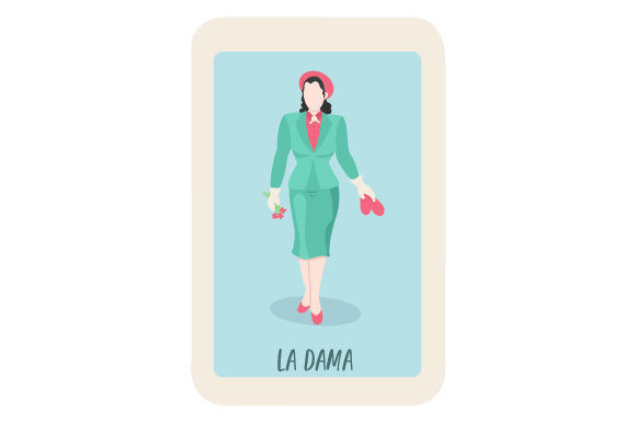 Download Free Loteria La Dama Svg Cut File By Creative Fabrica Crafts for Cricut Explore, Silhouette and other cutting machines.