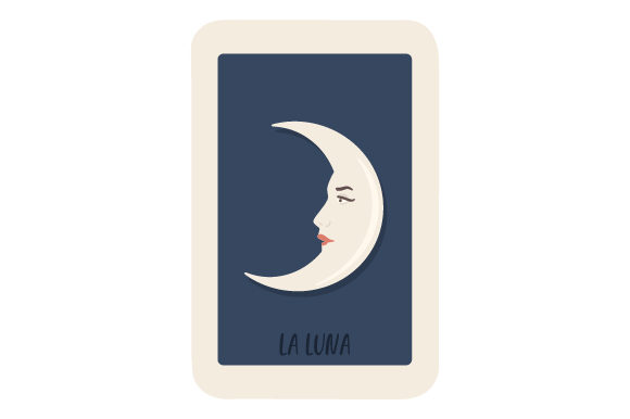 Download Free Loteria La Luna Svg Cut File By Creative Fabrica Crafts for Cricut Explore, Silhouette and other cutting machines.