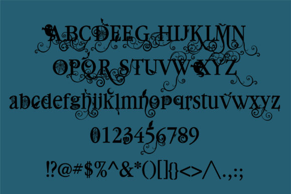 Print on Demand: Macabre Millionaire Serif Font By Illustration Ink - Image 2