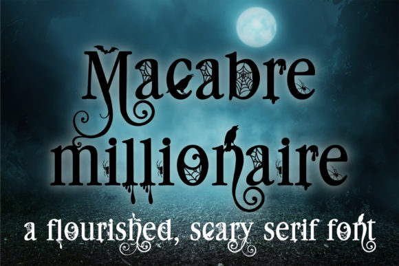 Print on Demand: Macabre Millionaire Serif Font By Illustration Ink