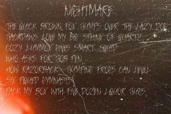 Print on Demand: Nightmare Blackletter Font By aminmario - Image 6