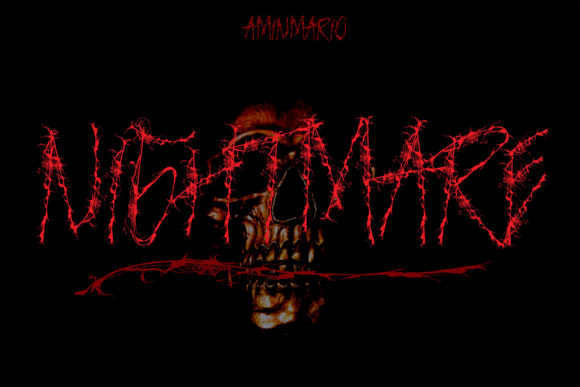 Print on Demand: Nightmare Blackletter Font By aminmario
