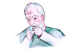 Old Man Drinking Tea in Watercolor Style Craft Design By Creative Fabrica Crafts