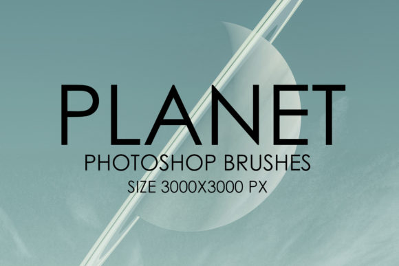 Print on Demand: Planet Photoshop Brush Set Graphic Brushes By denestudios