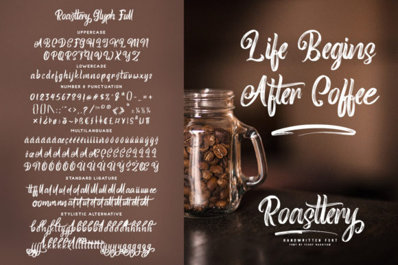 Print on Demand: Roasttery Script & Handwritten Font By feydesign - Image 8