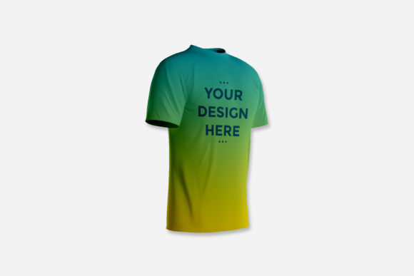 Showcase Front of Front T-shirt Mockup Graphic Product Mockups By suedanstock