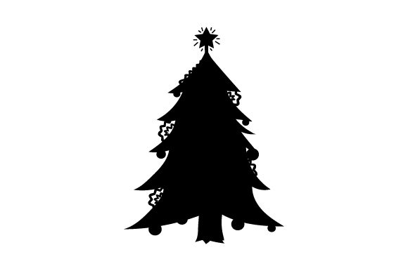 Silhouette Of Christmas Tree Svg Cut File By Creative Fabrica