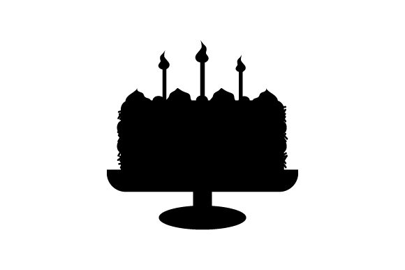 Download Free Silhouette Of Birthday Cake Svg Cut File By Creative Fabrica for Cricut Explore, Silhouette and other cutting machines.