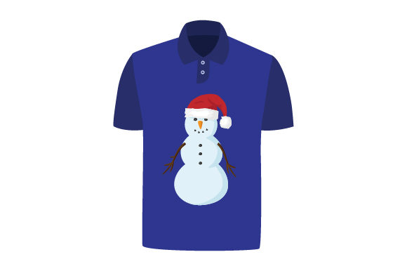 Download Free T Shirt Mockup With Snowman Wearing Santa Hat Svg Cut File By SVG Cut Files