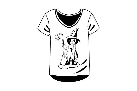 T Shirt Mockup With Witch Svg Cut File By Creative Fabrica