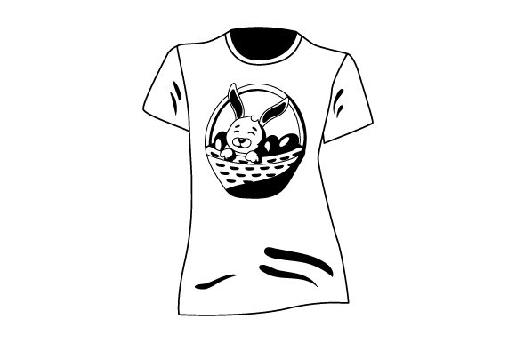 Download Free T Shirt Mockup With Bunny Inside Basket Of Eggs Svg Cut File By for Cricut Explore, Silhouette and other cutting machines.