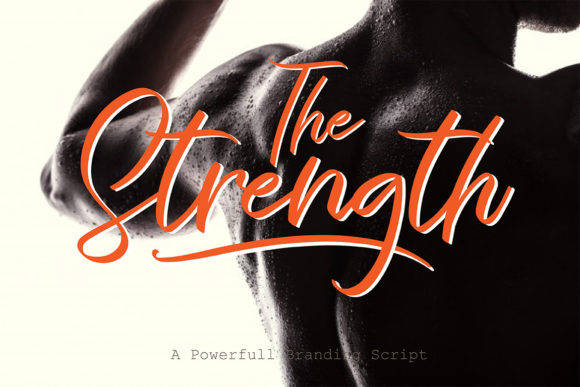 Print on Demand: The Strength Script & Handwritten Font By aminmario