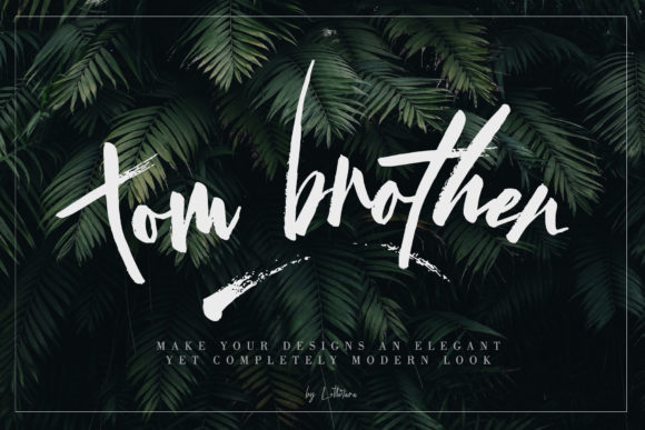 Print on Demand: Tom Brother Script & Handwritten Font By thomasaradea