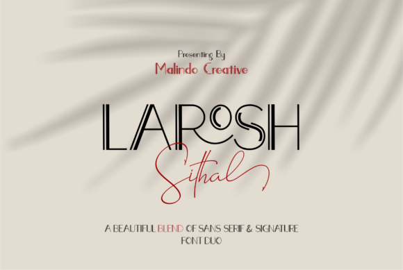 Print on Demand: Larosh Sithal Duo Script & Handwritten Font By Malindo Creative