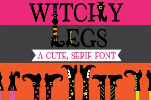 Witchy Legs Font By Illustration Ink
