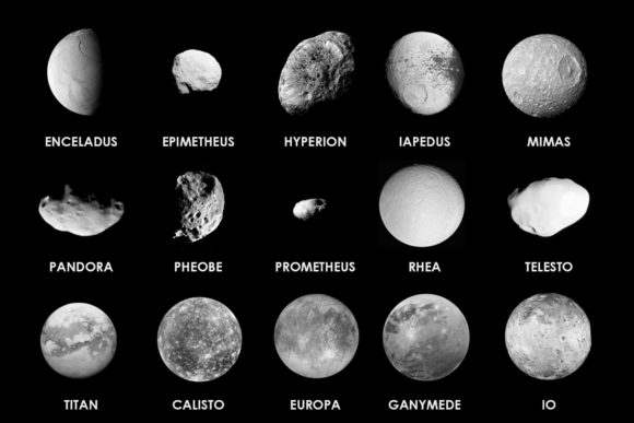 Print on Demand: 32 Planetary Moon Brushes Graphic Brushes By denestudios - Image 3