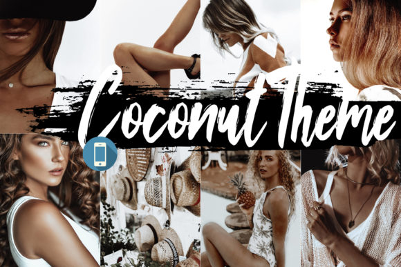 5 Coconut Mobile Lightroom Presets Graphic By 3Motional