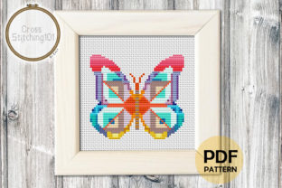 Abstract Butterfly Modern Cross Stitch Graphic Cross Stitch Patterns By crossstitching101
