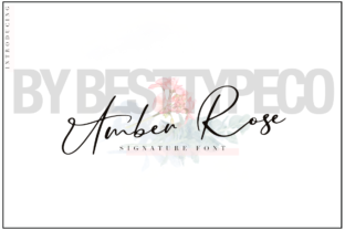 Amber Rose Font By besttypeco