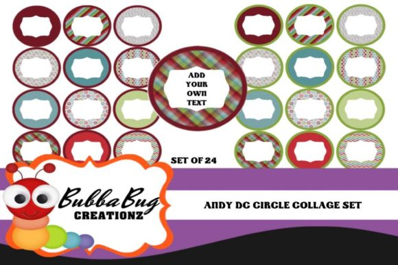 Andy Circle Collage Set Graphic Crafts By BUBBABUG