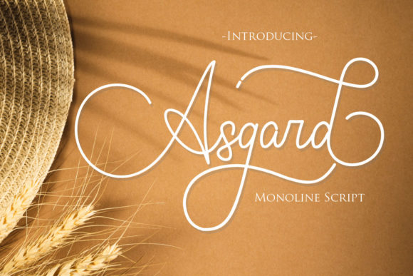 Print on Demand: Asgard Script & Handwritten Font By Gilar Studio
