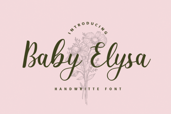 Print on Demand: Baby Elysa Script & Handwritten Font By Typia Nesia