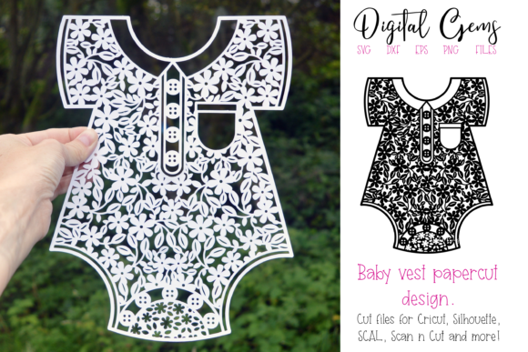 Baby Vest Paper Cut Design Graphic Crafts By Digital Gems
