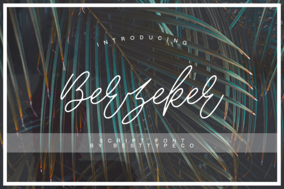 Print on Demand: Berzeker Script & Handwritten Font By besttypeco
