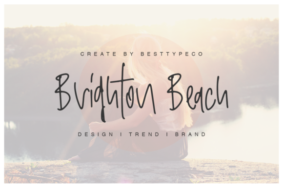 Print on Demand: Brighton Beach Script & Handwritten Font By besttypeco - Image 1