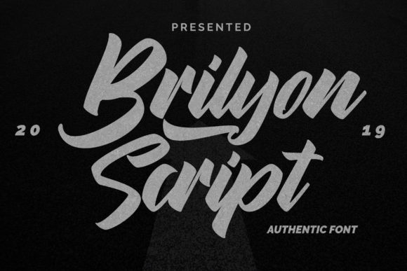 Print on Demand: Brylion Script Script & Handwritten Font By Vunira - Image 1