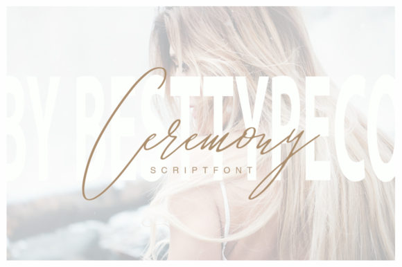 Print on Demand: Ceremony Script & Handwritten Font By besttypeco