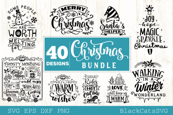 Christmas Bundle Bundle 40 Designs Graphic Download