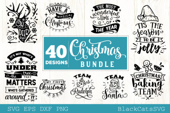 Christmas Bundle Bundle 40 Designs Graphic Item