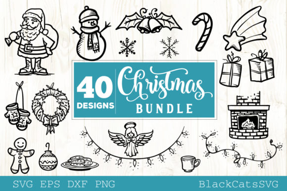 Christmas Bundle Bundle 40 Designs Graphic Design