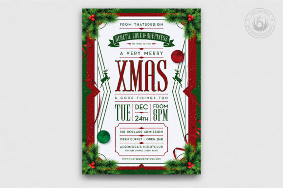 Christmas Eve Flyer Template Graphic By ThatsDesignStore
