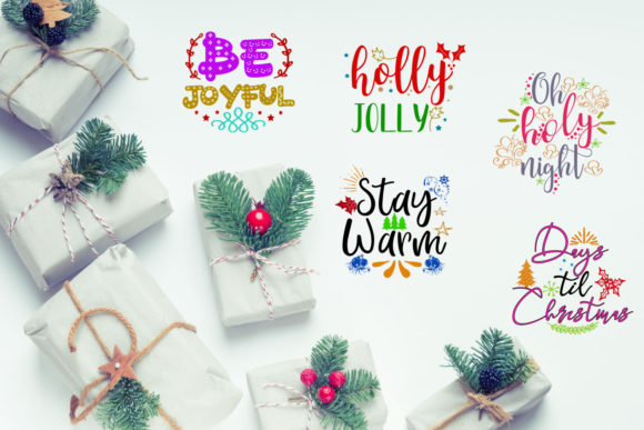 Print on Demand: Christmas Quotes Overlays Text Overlays Graphic Illustrations By Happy Printables Club - Image 3