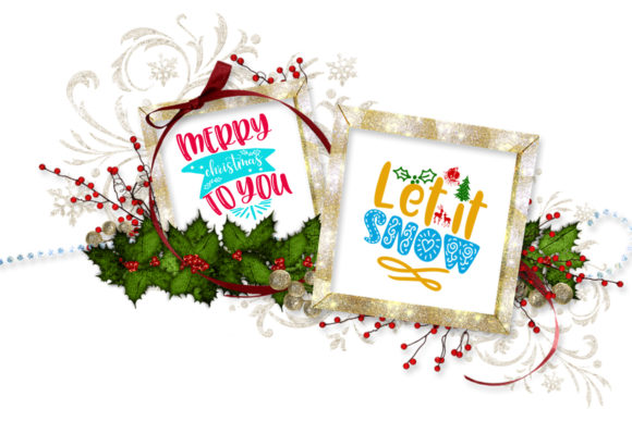 Print on Demand: Christmas Quotes Overlays Text Overlays Graphic Illustrations By Happy Printables Club - Image 4