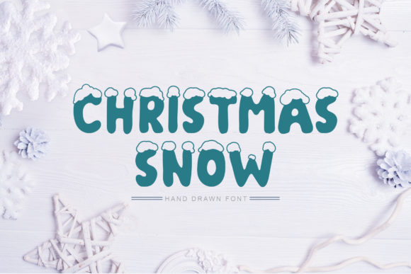 Print on Demand: Christmas Snow Display Font By Happy Letters - Image 1
