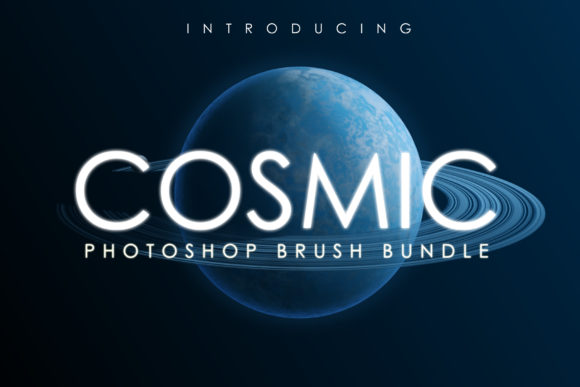 Print on Demand: Cosmic Brush Bundle Graphic Brushes By denestudios