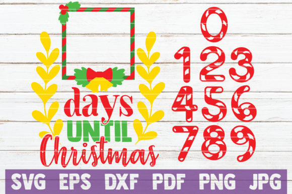 Days Until Christmas Graphic Graphic Templates By MintyMarshmallows - Image 1