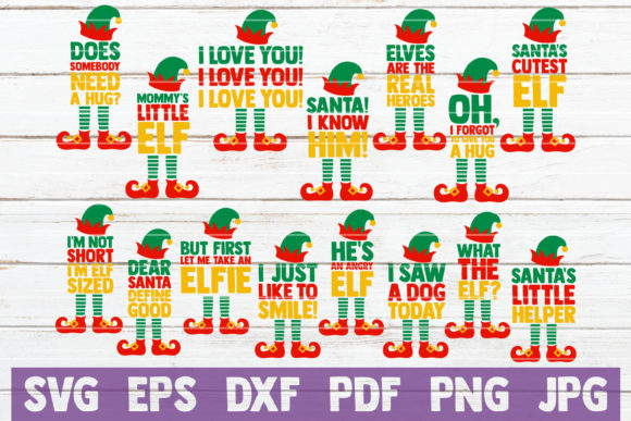 Elf Sayings Graphic By MintyMarshmallows Image 1