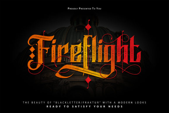 Print on Demand: Fireflight Blackletter Font By Vunira