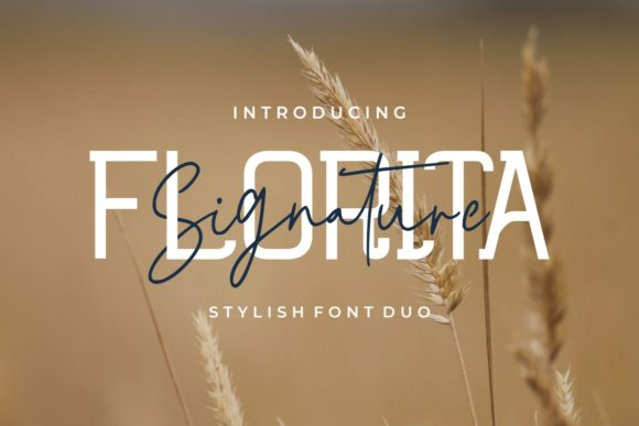 Print on Demand: Florita Duo Display Font By putracetol