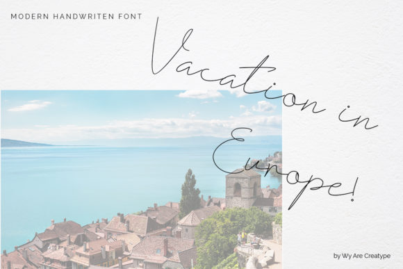Print on Demand: Fribourg Script & Handwritten Font By Helotype - Image 5