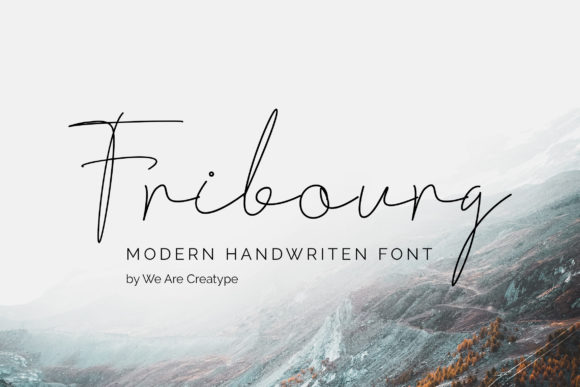 Print on Demand: Fribourg Script & Handwritten Font By Helotype - Image 1