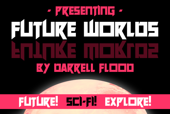 Print on Demand: Future Worlds Display Font By Dadiomouse