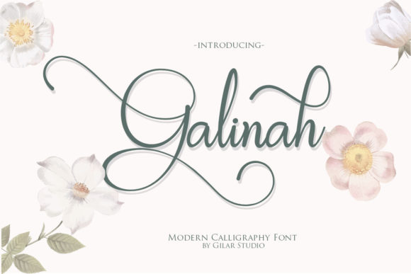 Print on Demand: Galinah Script & Handwritten Font By Gilar Studio